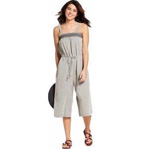 Universal Thread Smocked Striped Jumpsuit